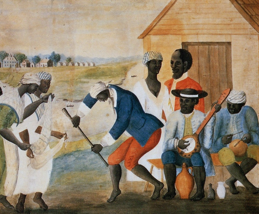 A painting, before 1790, is perhaps the earliest depiction of the instrument in the United States.