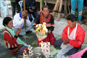 A spirit healing ritual in Northeast Thailand. Photo by Supeena Insee Adler, used by permission.