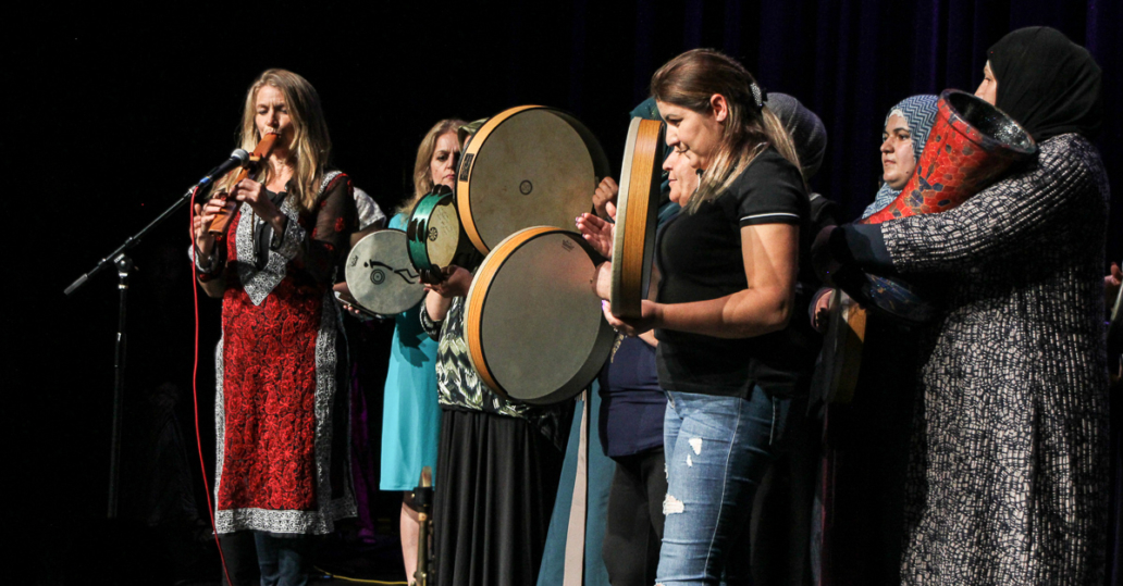 Refugee Women's Drum Circle