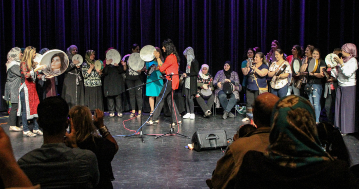 Refugee Women's Drum Circle