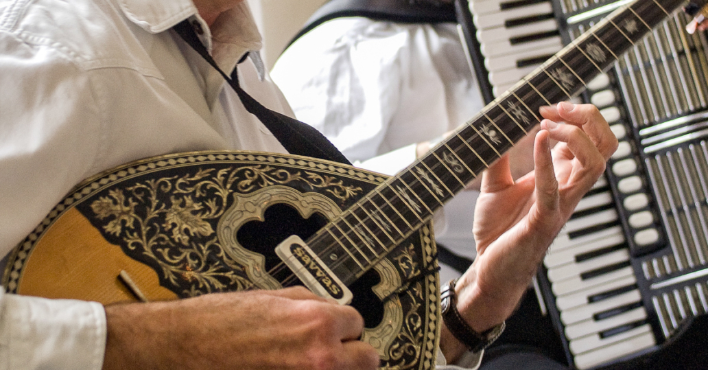 Musicians Playing Bouzouki and Accordian